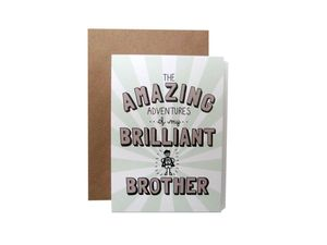 'Amazing Adventures Of My Brilliant Brother' Card