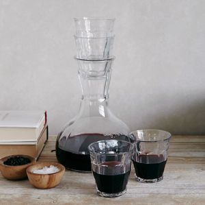Wine Decanter With Four Glasses