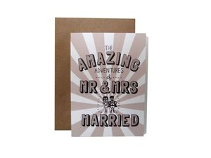'Amazing Adventures Of Mr And Mrs Married' Card