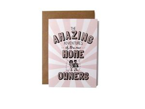 'Amazing Adventures Of The New Home Owners' Card - new home cards
