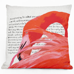 Flamingo Fantastic Cushion - patterned cushions