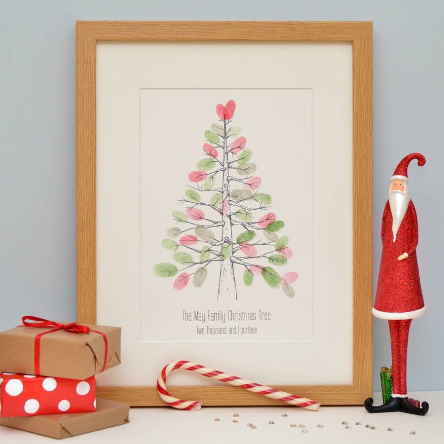 nordic fingerprint christmas tree by lillypea event stationery ...
