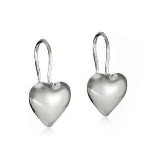 Everyday Sterling Silver Heart Earrings - gifts for her