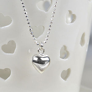 Girl's Sterling Silver Heart Necklace - view all sale items