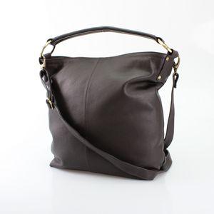 Brown Leather Hobo Handbag Tote - shoulder bags