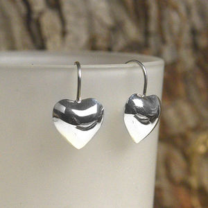 Sterling Silver Large Heart Earrings - view all sale items