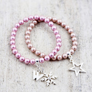 Pearl Stretch Bracelet Made With Swarovski Crystals - women's jewellery