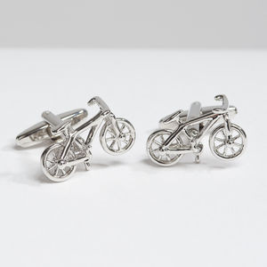 Cycling Cufflinks - wedding jewellery