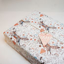 Fox And Diamonds Wrapping Paper