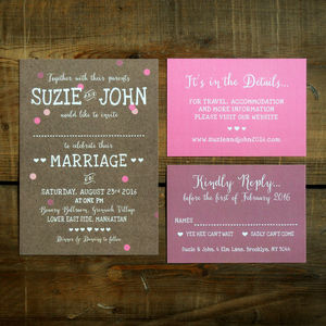 Whimsical Calligraphy Wedding Invitation - wedding stationery