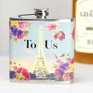 Rendezvous 'To Us' Hip Flask