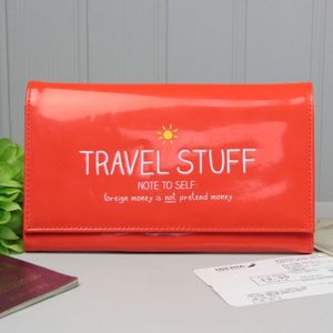 'Travel Stuff' Travel Wallet - luggage tags & passport holders