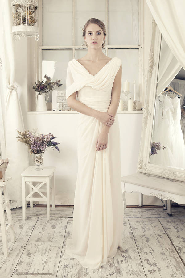 Modish off white wedding dress by elliot claire london for Off white dresses for weddings