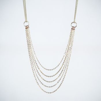 Cascading Silver Layered Necklace