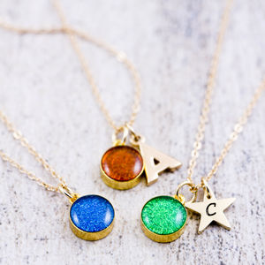 Mini Glitter Dot Necklace - jewellery sale