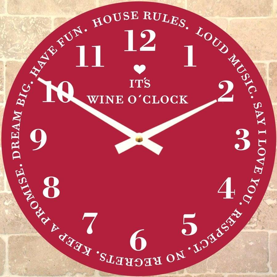 wine o u0026 39 clock clock by cute