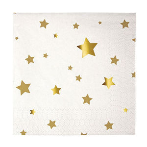 Gold Star Paper Napkins - christmas home accessories