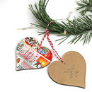 Personalised Christmas Stamp Heart Decoration