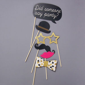 Posh Party Photobooth Props And Tattoos - art deco wedding style