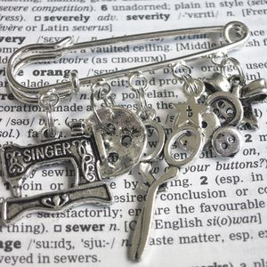Personalised Sewing Lover's Kilt Pin Brooch