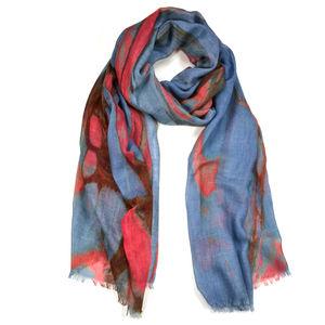 Burnet Marble Print Wool Silk Scarf Wrap