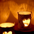 Heart Detailed Tea Light Candle Holder Lantern