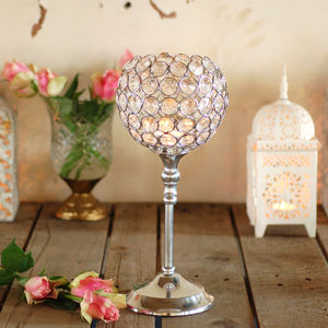 Crystal Lamp Tea Light Holder - table decorations