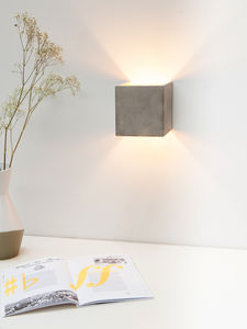 Concrete Wall Light With Gold Inside B3 - wall lights