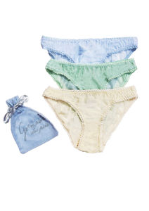 Set Of Three Cotton Voile Knickers