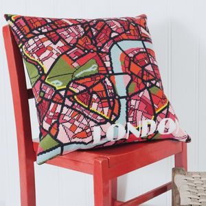 Contemporary London Bright City Map Tapestry Kit