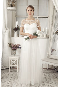 Chiffon Ivory Sweetheart Wedding Dress - wedding fashion
