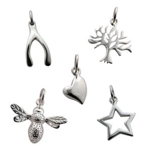 Selection Of Silver Charms - special work anniversary gifts
