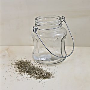 Hanging Glass Bonne Jam Jar Tealight Holder
