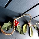 Mistletoe And Holly Garland