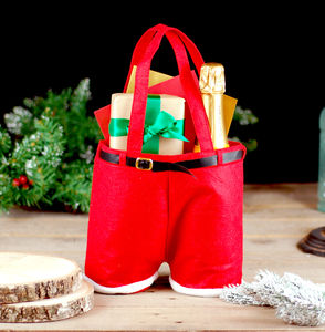 Santa Trousers Christmas Stocking Gift Bag - wrapping