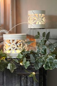 White Snowflake Votives - christmas lighting