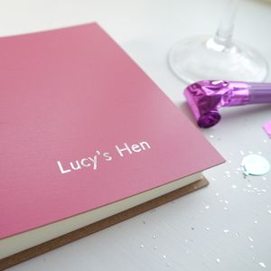 Hen Night Leather Album - hen party gifts & styling