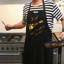 Personalised Apron 'Your Cooking Rocks!'