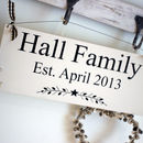 Family Name Personalised Sign
