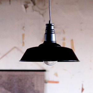 Black Warehouse Industrial Ceiling Pendant Light - lighting
