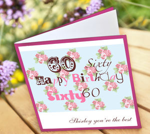 Personalised 60th Birthday Card - birthday cards