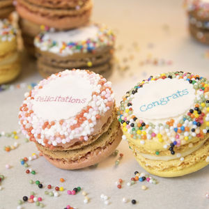 Gift Box Of 12 Congratulations French Macarons - our favourite leaving gifts