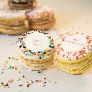 Gift Box Of 12 'Get Well' French Macarons - cakes & sweet treats