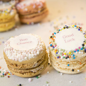 Gift Box Of 12 'Good Luck' French Macarons - cakes & sweet treats