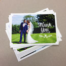 Personalised Wedding Photo Thank You Postcards