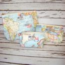 World Map Wash Bag Gift Set 2 - Box, Small, Large