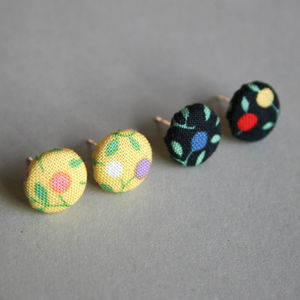 Dot Flower Earrings - earrings