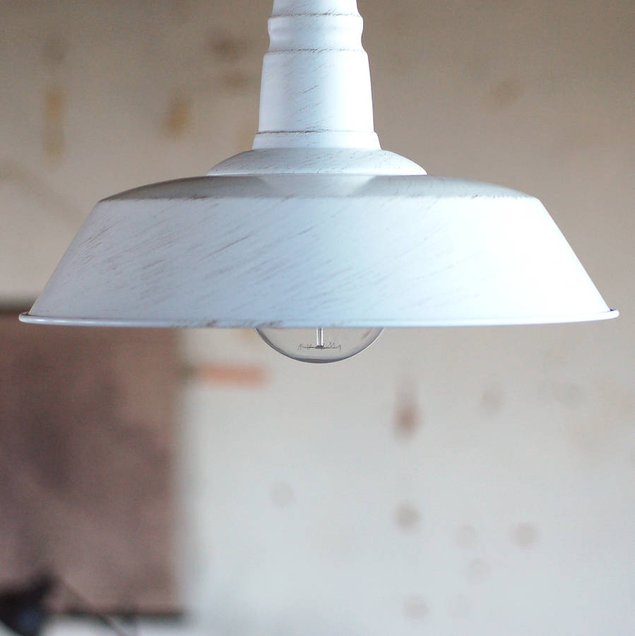 White Warehouse Industrial Ceiling Pendant Light By Made