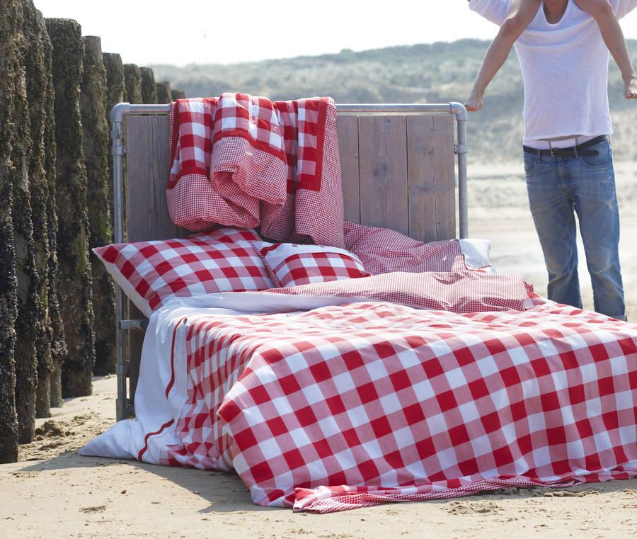Red Check Duvet Set