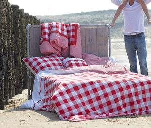 Red Check Duvet Set By Ahwm - bed, bath & table linen